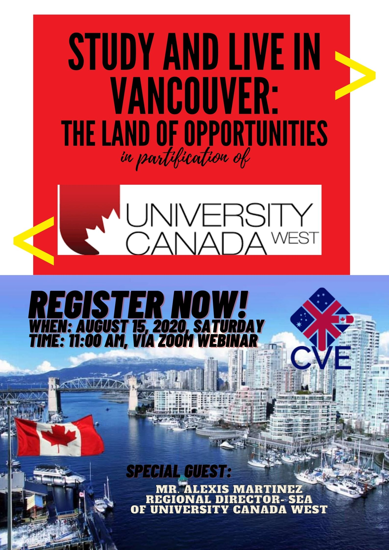 STUDY AND LIVE IN VANCOUVER!